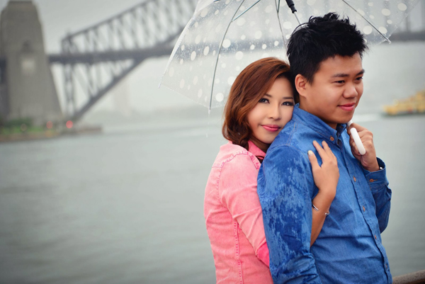 Chụp hình cưới mùa mưa